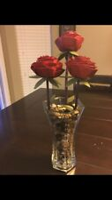 Handmade Rose Metal Floral Decor For Sale