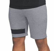 Under Armour Tech Terry Mens Training Shorts Grey Gym Workout Short Sweatshort