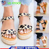 Womens Ankle Strap Platform Wedges Sandals Espadrilles Summer Beach Ladies Shoes