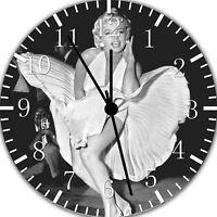Marilyn Monroe Frameless Borderless Wall Clock Nice For Gifts or Decor E385
