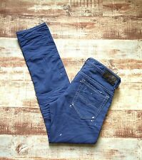 NEW $278 DIESEL D.N.A. JEANS THAVAR in BLUE Size 34x32 Slim Skinny Made in ITALY