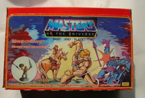 MOTU He-Man Pinnacle Products Paint and play playset Raid of He Man  80s A21