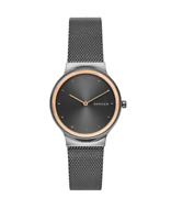 Skagen Freja Stainless Steel Black Dial Mesh Band Women's Watch SKW2707 New