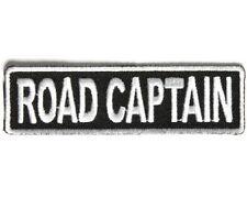 "ROAD CAPTAIN 3.5"" x 1"" iron on patch (3710) Biker Club Rank Title"