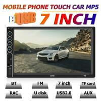 7'' 2 DIN Car Stereo MP5 Player Bluetooth Touch Screen Mirror Link USB FM Radio