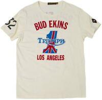RARE TRIUMPH JOHNSON MOTORS #1 BUD ENKINS T-SHIRT MEN'S TEE WAS $49.99 ALL SIZES