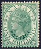 NATAL 1870 1/- GREEN FRESH MOUNTED MINT. STANLEY GIBBONS NUMBER 59.