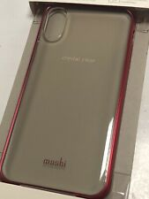 *NEW*   Moshi Vitros Ultra-Slim Clear Case for iPhone X / Xs (Red)     MV768