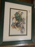 "Framed  Print Florals By B. Kallestad 11""x9"""