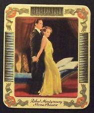 Robert Montgomery Norma Shearer 1934 Garbaty Film Star Ser 2 Cigarette Card #176