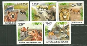 BURUNDI 1112A-D, 1132 MNH HABITAT FRAGMENTATION IMPERF