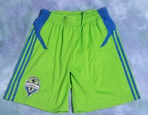 SEATTLE SOUNDERS FC MENS ADIDAS CLIMALITE REPLICA SHORTS MEDIUM ACTION GREEN