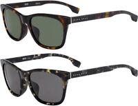 Hugo Boss Men's Rounded Browline Classic Havana Sunglasses - HB1061FS