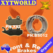 FRONT REAR Brake Pads Shoes for Kawasaki Kaze-r 112cc 2004