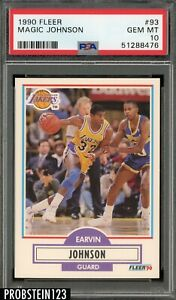 1990-91 Fleer Basketball #93 Magic Johnson Lakers HOF PSA 10 GEM MINT