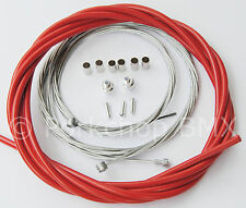 Bicycle 5mm LINED freestyle for ACS rotor brake cable kit old school BMX RED
