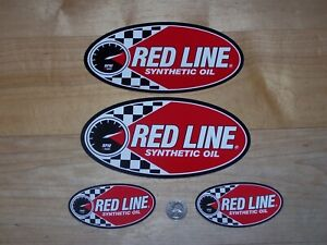 4 - Original - Red Line Synthetic Oil - decals/stickers
