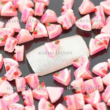 """100pcs Nuevo Cherry Cake """" """"Arte De Uñas Brilla bricolaje decoración diseño # 863b"""