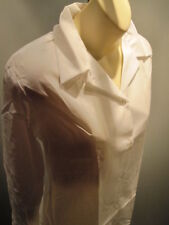Nos Vintage White Teddy Girl Blouse Rockabilly School Top Shirt Waitress Mod 18