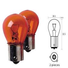 Ampoule Clignotant 12V 21W Culot BAU15S PY21W Orange pour Citroen Berlingo - 830