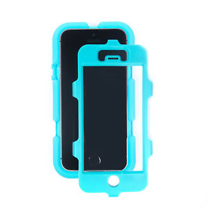 Griffin Survivor Military Duty Case with Belt Clip iPhone SE 5S 5 Pool Blue