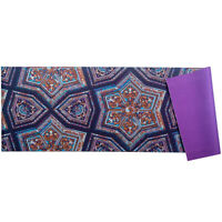 """NEW! AUM 68"""" x 24"""" ULTRA SOFT TEXTURE YOGA EXERCISE MAT - NON-SLIP W/CARRY STRAP"""