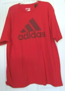 Mens NWT Adidas go to tee 2XL Red short sleeve t shirt