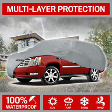 Motor Trend Outdoor Full Car Cover 4-Layer for Van SUVs Crossovers Up to 210""
