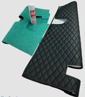 MGB,MGB-GT /C V8 TRANSMISSION TUNNEL QUILTED COVER - 4 SYNC BLACK