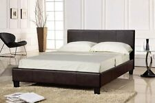 Faux Leather Bed Double (mattress Option) Dark Brown 4ft6 Prado Luxury UK No Mattress Thanks