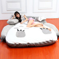 Giant Totoro Bed Sleeping Bag Mattresses Tatami Comfortable Plush Catoon Cushion