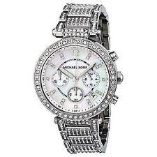 Michael Kors Women's 'Parker' Silver Super Glitz Watch - MK5572 39mm