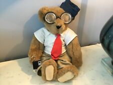 """Authentic Signed Vermont Teddy Bear Co. Dressed """"It� Brown Moveable Bear No Res"""