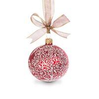 "Jay Strongwater Filigree Artisan 3"" Glass Christmas Ornament - Siam"