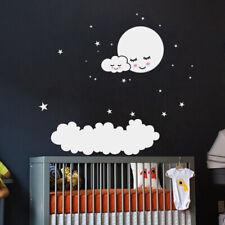 Wandaufkleber Wandtattoo Wandsticker Gute Nacht Mond Wolke Stern Kinder Baby