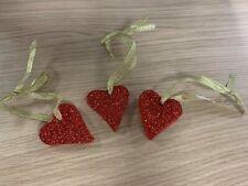 Handmade Decorative Hanging Hearts pack of 3 - Valentines - Autism Awareness