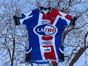 Louis Garneau Running Sprint Triathlon Tri Club LA Cycling Jersey USA flag Small