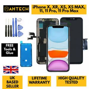 For iPhone X XS MAX XR 11 11Pro Max LCD Screen Replacement Digitizer 3D OLED UK