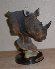 "Meerchi Resin Rhino Statue Figurine Home Decor 7"" Tall"