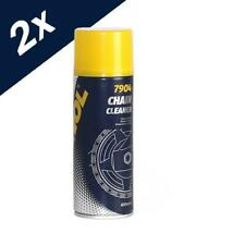 2x400ml MANNOL Chain Cleaner For Bikes Motorbikes ATV's Motorcycles