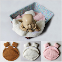 3pcs Newborn Photo Props Posing Mat Pillows Baby Costume Prop Soft Cotton Filler