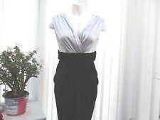 """m & co"" ladies size 10 black/silver cocktail dress"