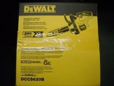 "DEWALT DCCS620B 20V Max 12"" Compact Cordless Chainsaw Bare Tool Brushless"