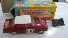 CORGI 322 MONTE CARLO RALLY ROVER EXCELLENT CAR  IN WORN VERY GOOD ORIGINAL BOX