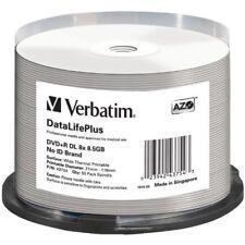 Verbatim 43754 Dvd+r Dl White Thermal 50pk