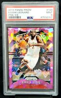 2019 Prizm PINK ICE REFRACTRO Clippers KAWHI LEONARD Card PSA 9 MINT Pop 42