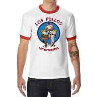 Los Pollos Hermanos Funny Mens T-Shirt Ringer Short Sleeve Casual Tops Tee Gifts