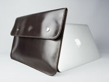 Brown Premium Genuine Leather Sleeve for Macbook Air/Pro 13 Retina / Touch Bar