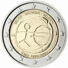 "Belgium 2 euro coin 2009 ""10th Anniversary of the Introduction of the Euro"" UNC"
