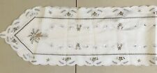 Bnwot Christmas candle table runner in cream and gold